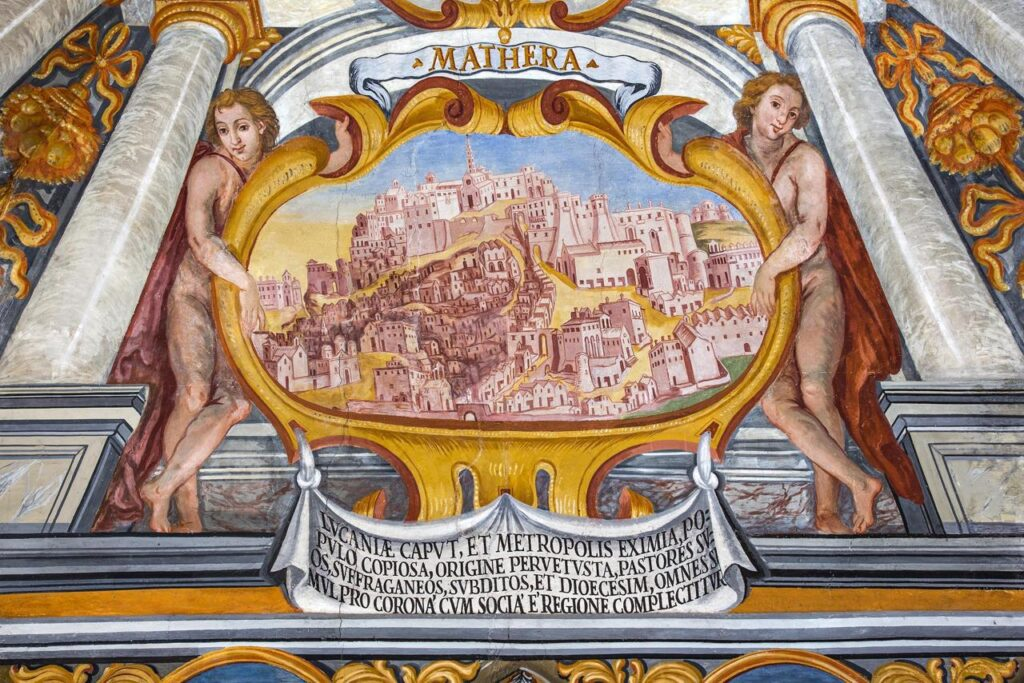 Historical representation of Matera