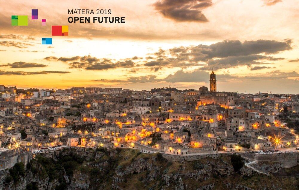 Sassi of Matera with Matera 2019 logo