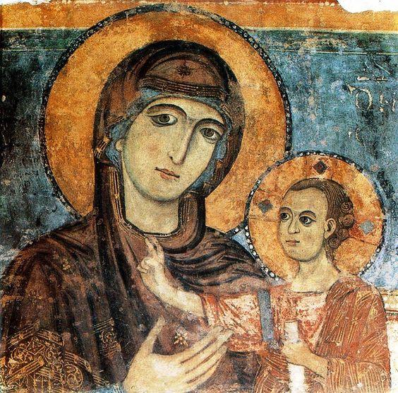 Madonna della Bruna fresco