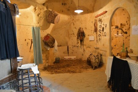 Cave dwelling in the Sassi of Matera